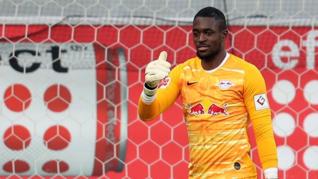 Der frühere YB-Goalie Yvon Mvogo wartet bei RB Leipzig immer noch (und wohl vergebens) auf eine echte Bewährungschance.