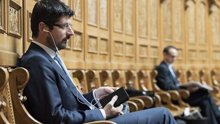 Yannick Buttet am 30. November in einem seiner letzten öffentlichen Auftritte im Parlament. (Archivbild)