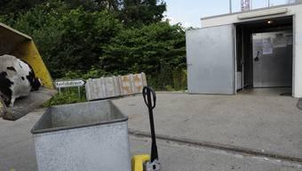 Beim Konfiskatraum, auf dem Areal der Kebag Zuchwil, werden Tierkadaver ab 10 Kilogramm in Container entsorgt. (Archivbild)