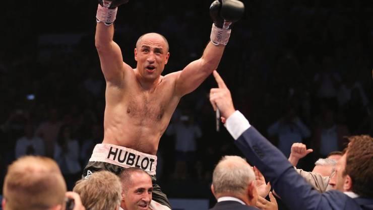 Am Sonntag konnte Boxweltmeister Arthur Abraham über die Geburt seines Sohnes Grigor jubeln. (Archivbild)