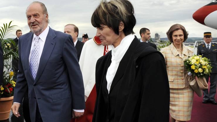 Bundespräsidentin Micheline Calmy-Rey und Spaniens König Juan Carlos I.