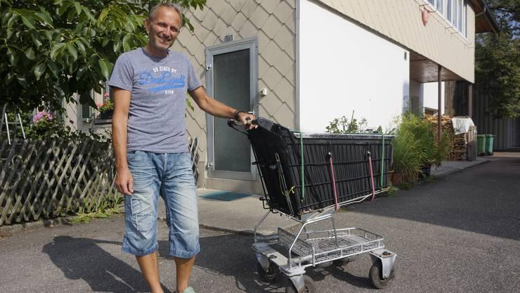 Christian Zimmerman ist mit Miss Molly wieder daheim. Die unter dem Gitter angebrachten Ersatzräder brauchte er nicht.