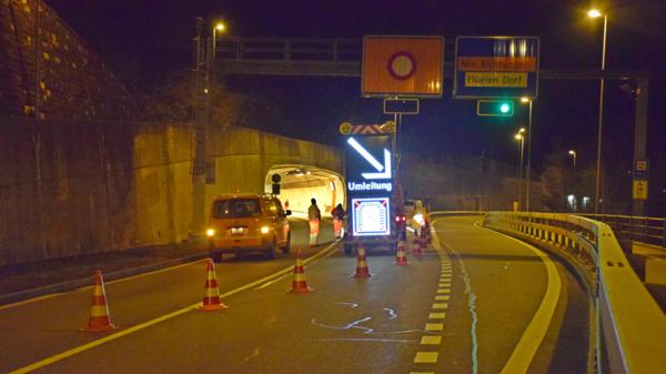 Der Tunnel bleibt zwischen 22 und 5 Uhr gesperrt.