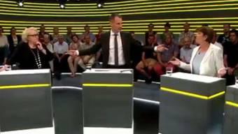 Jonas Projer während der Sendung.