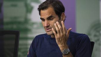 Gefasst wie selten nach einem Grand-Slam-Out erklärt Federer seine Niederlage gegen Anderson.