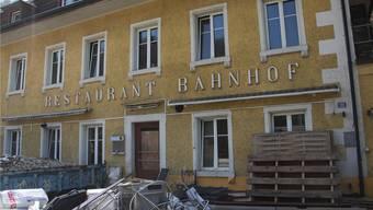 Die Zukunft des Restaurants Bahnhof gegenüber der Station Effingen ist seit vielen Jahren ungewiss. Archiv AZ