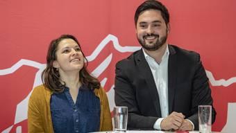 Mattea Meyer (l.) und Cédric Wermuth wollen die Schweizer Sozialdemokratie führen..