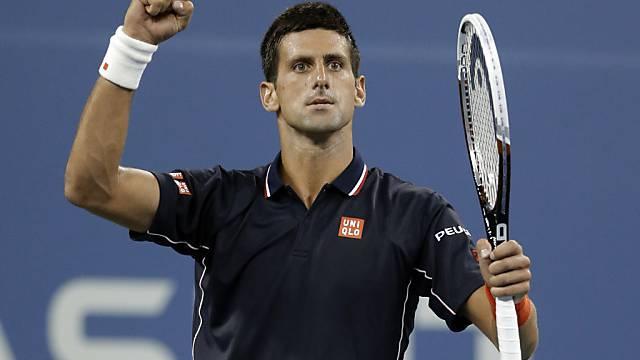 Zum achten Mal in Folge im US-Open-Halbfinal: Novak Djokovic