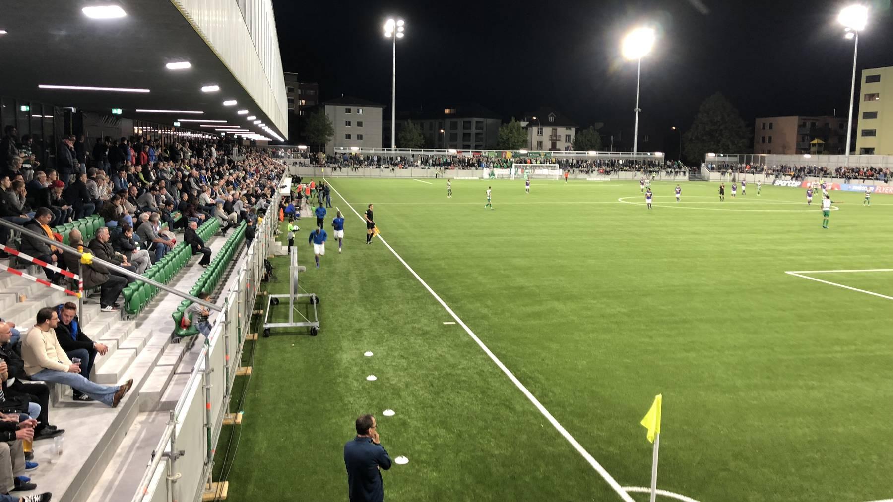 Das erste Spiel im neuen Kleinfeld-Stadion