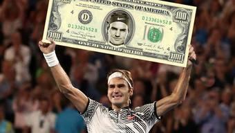 Roger Federer hat beim Karriere-Preisgeld nach Novak Djokovic die 100-Millionen-Grenze überschritten.