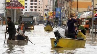 Die albanische Region Shkodra unter Wasser