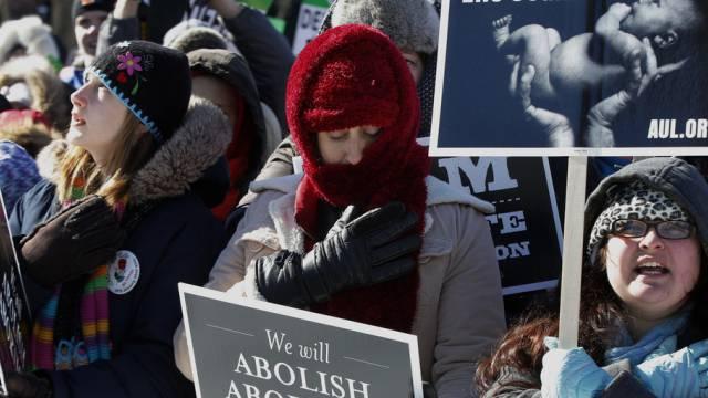 Tausende demonstrieren gegen Abtreibung in Washington
