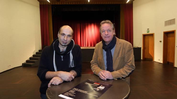 Gemeinsam für die Rösslibühne: Rolf Glanzmann (l.) und Hansueli Häni, Geschäftsführer Hotel Balsthal.