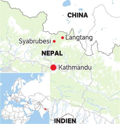 Nepal liegt zwischen China und Indien.