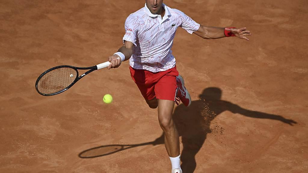 Novak Djokovic in Rom im Final