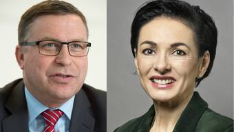 Martin Keller (SVP) und Marinanne Binder (CVP) reagieren unterschiedlich darauf, dass sie nicht in den Nationalrat nachrutschen.