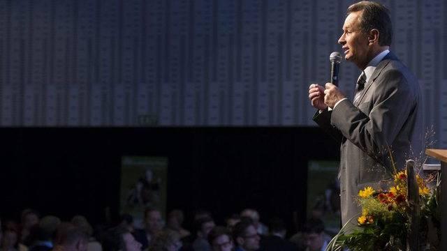 FDP-Präsident Philipp Müller spricht in Thun