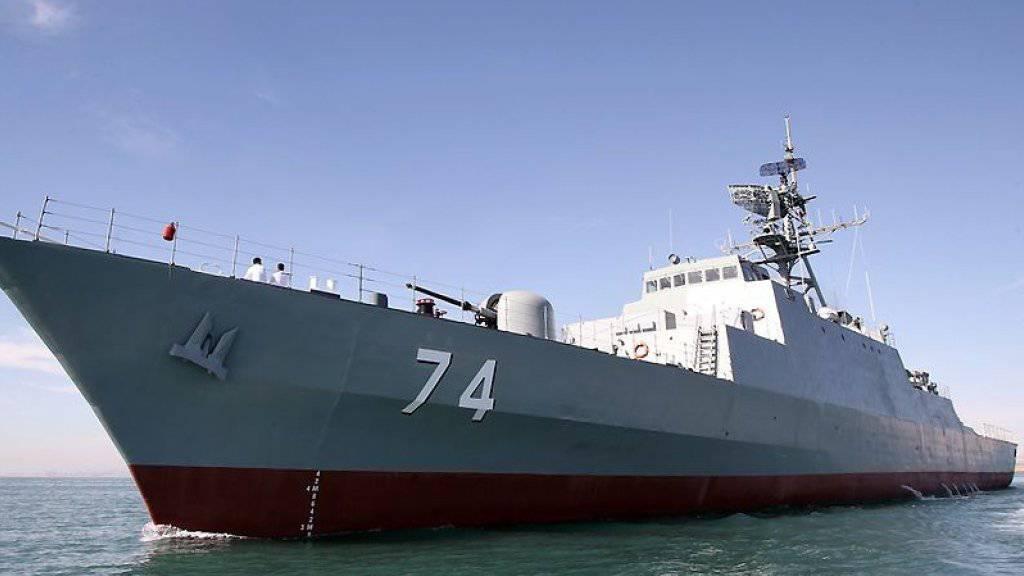Der neue iranische Zerstörer «Sahand», der vom Radar nicht zu orten ist. (Archivbild)