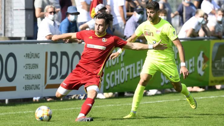Dem SC Schöftland wollte in der ersten Halbzeit nicht viel gelingen.