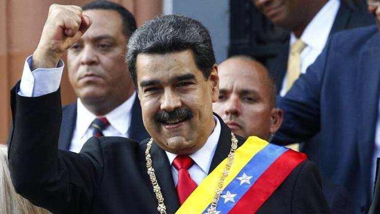 Hat Gespräche mit der Opposition vorerst gestoppt: Venezuelas Staatschef Nicolás Maduro.