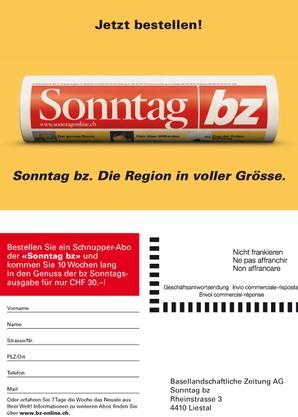 bz Werbung Dispenser Karte