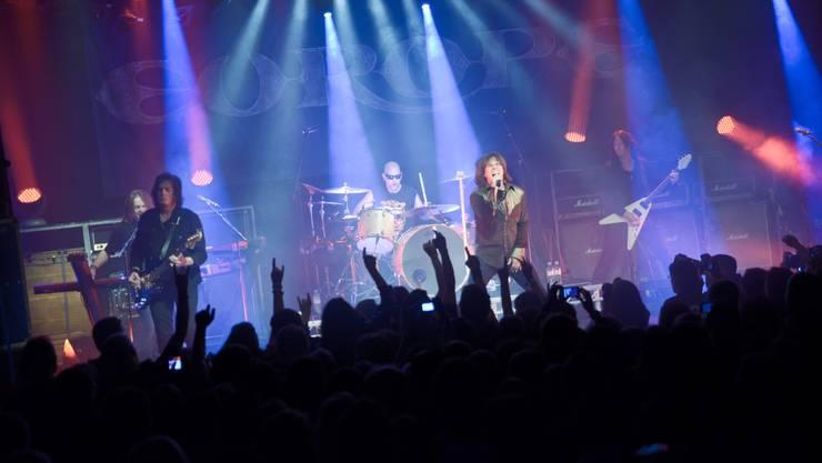 Die schwedische Band Europe in Aktion