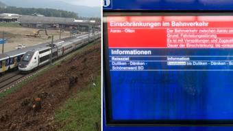 Eine Panne im Nadelör Aarau-Rupperswil legt den gesamten Bahnverkehr im Mittelland lahm.