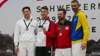 Kevin Wagner gewinnt die Karate Schweizermeisterschaften im Kumite +84kg in Elite und U21!
