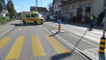 Die Ambulanz forderte einen Rettungshelikopter an, um die Verletzte ins Spital zu fliegen.
