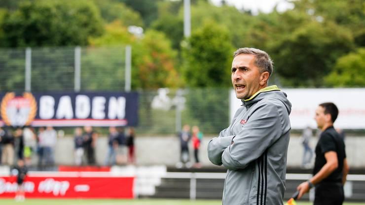 Ranko Jakovljevic (Trainer) im Spiel FC Baden gegen den FC Red Star aufgenommen im Stadion Esp in Baden am 25. August 2018.