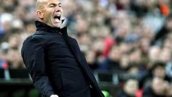 Zinédine Zidane konnte nicht gefallen, was er von seiner Mannschaft in Valencia sah