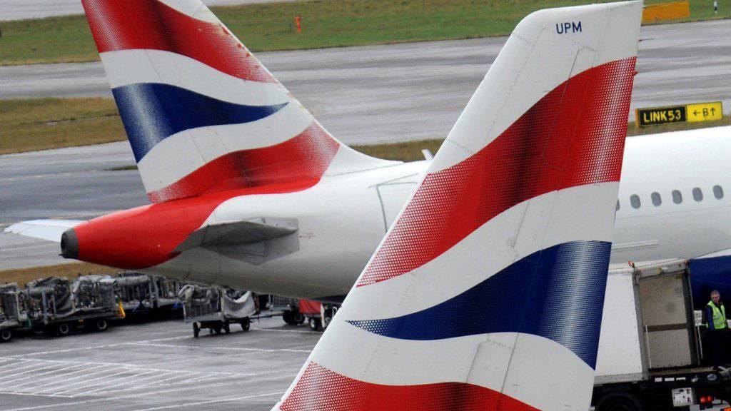 Die Zahlen von British-Airways-Mutter IAG waren im ersten Quartal nicht so rosig: BA-Flugzeuge in London (Archivbild).