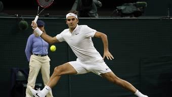 Spektakulär: Roger Federer erreichte völlig ungefährdet die Wimbledon-Achtelfinals