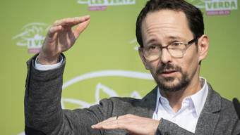 Balthasar Glättli an der Delegiertenversammlung der Grünen vom Samstag - einen Tag vor Bekanntgabe seiner Kandidatur.