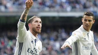 Erfolgreiches Tandem: Doppeltorschütze Sergio Ramos (links) und Cristiano Ronaldo