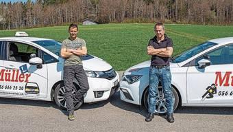Die Brüder Richi und André Müller (von links) sind beide Fahrlehrer