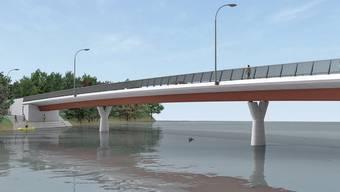 Noch gibt es die neue Gnadenthal-Brücke über die Reuss erst als Visualisierung – noch dieses Jahr sollen aber die Bauarbeiten beginnen.