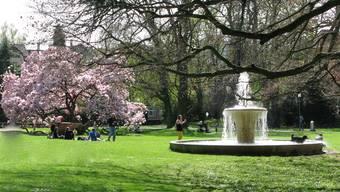 Frühling im Kurpark, Baden