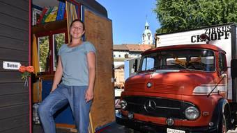 Regula Maurer, aufgewachsen in Glashütten und derzeit wohnhaft in Olten, ist bereits in zweiter Saison «in freudiger Umgebung» – dem Zirkus Chnopf – unterwegs.