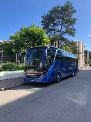 Unser Reisecar für die Fahrt ins Blaue Foto HP.Niklaus