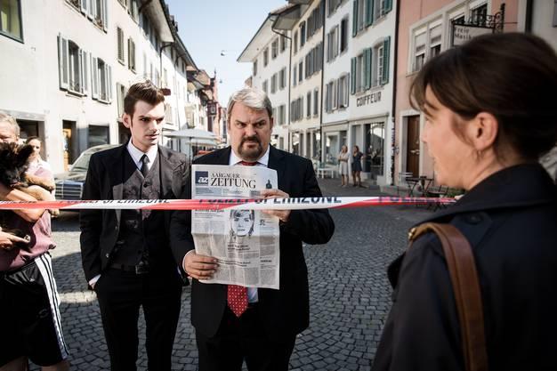 Den Serientätern auf der Spur: Reto Stalder als Fabio Testi, Mike Müller als Luc Conrad und Barbara Terpoorten als Anna-Maria Giovanoli.