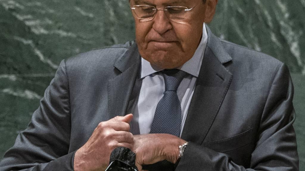 Lawrow: USA handeln im «Geiste des Kalten Krieges»