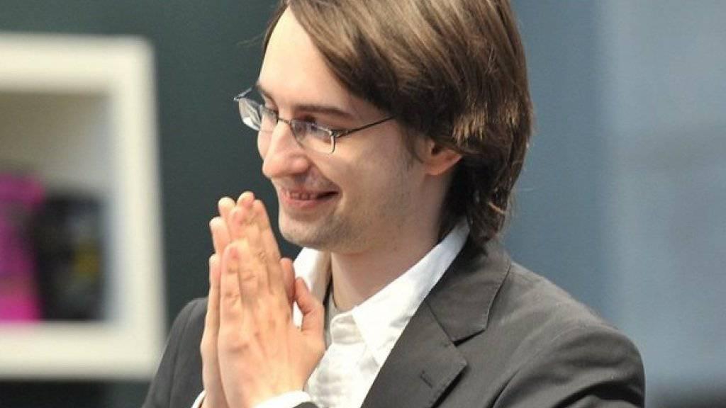 Clemens J. Setz 2011 bei der Entgegennahme des Leipziger Buchpreises. Dieses Jahr erhält er den hochdotierten Raabe-Preis (Archiv)