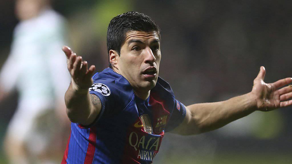 Luis Suarez will mit dem FC Barcelona nicht weiter an Terrain gegenüber Real Madrid verlieren