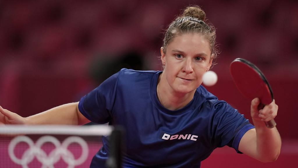 Rachel Moret hält sich im Olympia-Turnier