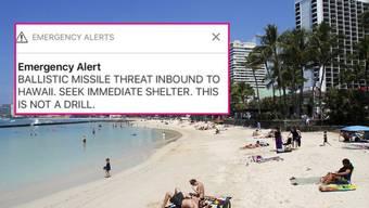 Diese Alarm-Meldung löst auf Hawaii kurzzeitig Panik aus