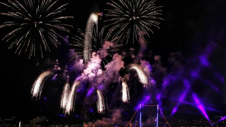 Das Feuerwerk an den Fêtes de Genève gehört zu den weltweit grössten seiner Art. (Archivbild)