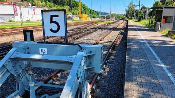 Knotenbahnhof Waldshut: Das Gleis 5, das in die Schweiz führt,soll an das bestehende Gleisnetz der Hochrheinstrecke angebunden werden.