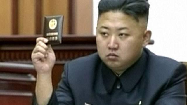 Schickte ein Fax mit wilden Drohungen nach Südkorea: Diktator Kim Jong Un (Archiv).