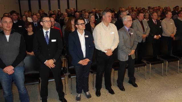 Inpflichtnahme der Gemeinderatsmitglieder der Bezirke Laufenburg und Rheinfelden in der Laufenburger Stadthalle. – Foto: chr